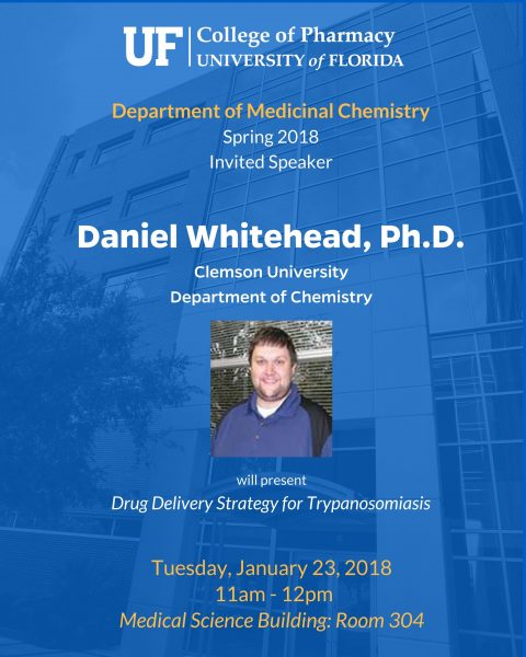 Seminar Announcement, Daniel Whitehead, Ph.D.