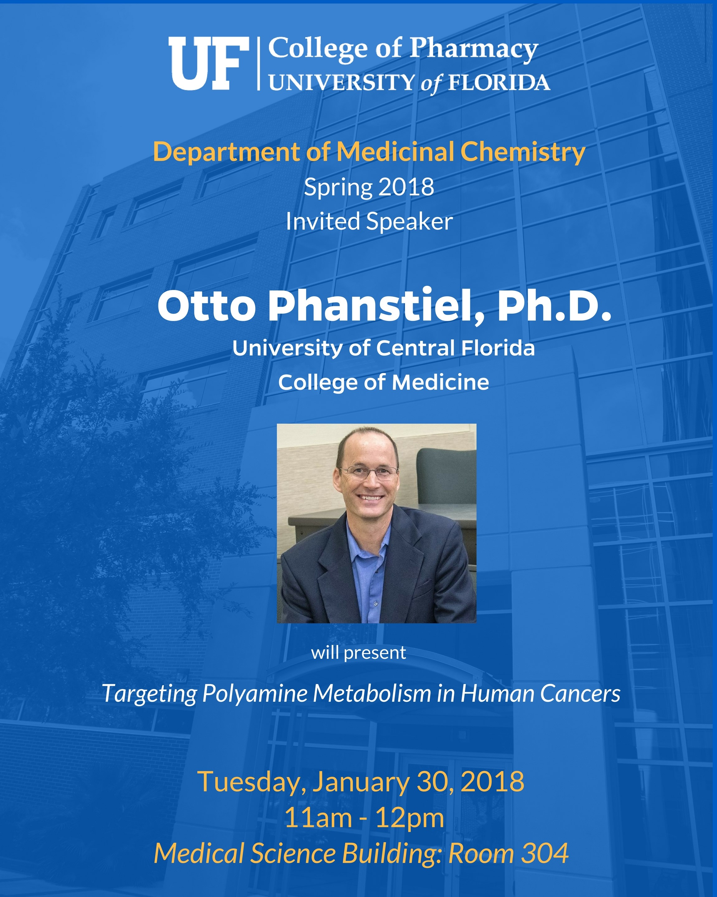 Seminar Announcement, Otto Phanstiel, Ph.D.