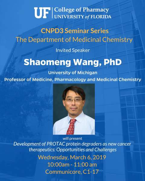 Seminar Announcement_ Med Chem, Shaomeng Wang